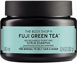 """Voňavky, Parfémy, kozmetika Scrub a šampón na vlasy a pokožku hlavy """"Zelený čaj"""" - The Body Shop Fuji Green Tea Cleansing Hair Scrub"""