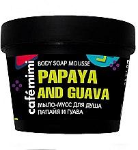"Voňavky, Parfémy, kozmetika Mydlo mušt na sprchovanie ""Papaya a guava"" - Cafe Mimi Body Soap Mousse Papaya And Guava"