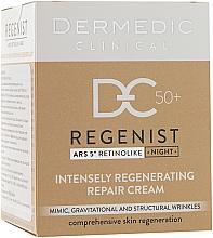 Voňavky, Parfémy, kozmetika Nočný regeneračný krém 50+ - Dermedic Regenist ARS 5 Retinolike Night Intensely Regenerating Repair Cream