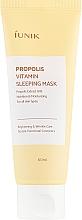 Voňavky, Parfémy, kozmetika Regeneračná nočná maska s propolisom - iUNIK Propolis Vitamin Sleeping Mask