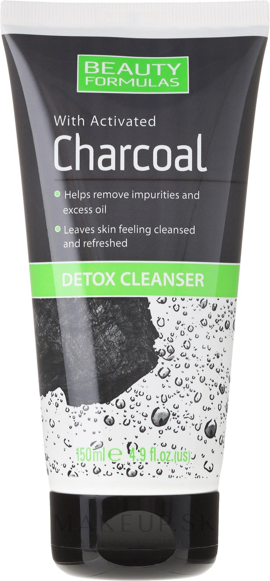 Prostriedky pre čistenie pleti tváre s uhlím - Beauty Formulas Charcoal Detox Cleanser — Obrázky 150 ml