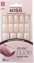 Voňavky, Parfémy, kozmetika Sada umelých nechtov s lepidlom - Kiss Salon Acrylic Nude Nails Cashmere