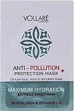 """Voňavky, Parfémy, kozmetika Maska na tvár """"Hydratačná kyselina hyalurónová + vitamíny C a E"""" - Vollare Anti-Pollution Protection Mask"""