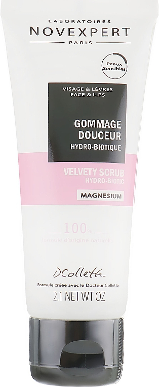 Zamatový hydro-biotický scrub na tvár - Novexpert Magnesium Velvety Scrub Hydro-Biotic