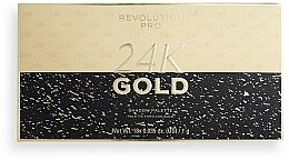 Voňavky, Parfémy, kozmetika Paleta očných tieňov - Revolution PRO 24K Gold Eye Shadow Palette