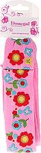 Voňavky, Parfémy, kozmetika Textilná čelenka do vlasov, 5495, ružová s kvetmi - Donegal
