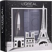 Voňavky, Parfémy, kozmetika Sada - L'oreal Paris Make-up Set (mascara/8.9ml + mic/water/400ml)