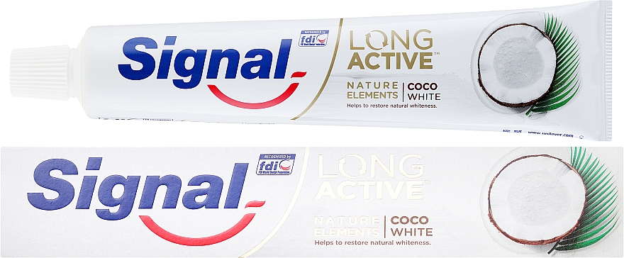 Zubná pasta - Signal Long Active Nature Elements Coco White