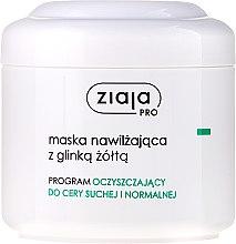Voňavky, Parfémy, kozmetika Hydratačná maska na tvár so žltým ílom - Ziaja Pro Moisturizing Mask with Yellow Clay
