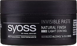 Voňavky, Parfémy, kozmetika Vlasová stylingová pasta - Syoss Invisible Paste Light Control
