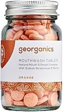 """Voňavky, Parfémy, kozmetika Tabletky na výplach úst """"Pomaranč"""" - Georganics Mouthwash Tablets Orange"""
