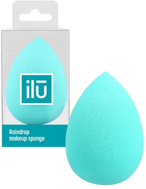 Špongia-kvapka na make-up, tyrkysová - Ilu Sponge Raindrop Turquoise