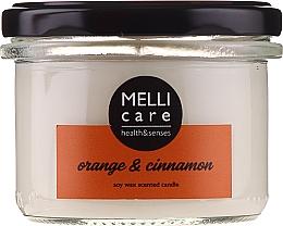 """Voňavky, Parfémy, kozmetika Vonná sviečka """"Pomaranč a škorica"""" - Melli Care Orange & Cinnamon Soy Wax Scented Candle"""