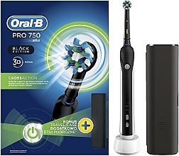 Voňavky, Parfémy, kozmetika Elektrická zubná kefka - Oral-B Pro 2 2500 Black Edition