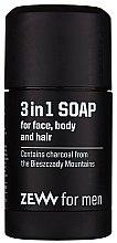 Voňavky, Parfémy, kozmetika Prírodné tvrdé mydlo 3 v 1 - Zew For Men 3 in 1 Soap For Face Body And Hair
