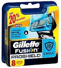Voňavky, Parfémy, kozmetika Vymeniteľné kazety na holenie, 8 ks - Gillette Fusion ProShield Chill