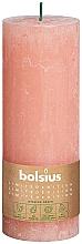 Voňavky, Parfémy, kozmetika Valcová sviečka, ružová, 190x68 mm - Bolsius