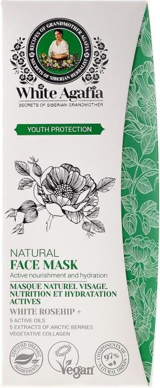 """Tvárová maska """"Zachovanie mladosti"""" - Recepty babičky Agafy White Agafia Natural Face Mask"""