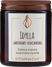 """Voňavky, Parfémy, kozmetika Voňavá sójová sviečka """"Idylka. Levanduľa-harmanček"""" - Bosphaera"""