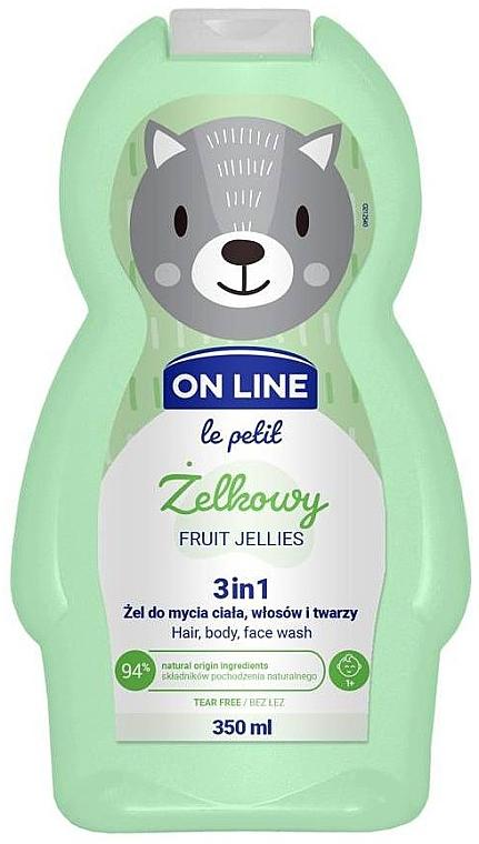 "Čistiaci prípravok na vlasy a telo ""Ovocné želé"" - On Line Le Petit Fruit Jellies 3 In 1 Hair Body Face Wash"