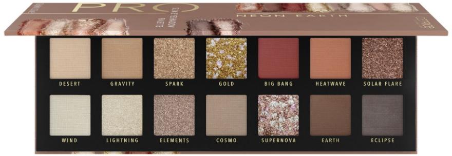 Paleta očných tieňov - Catrice Pro Neon Earth Slim Eyeshadow Palette (10.6 g)