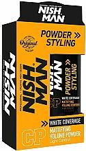 Voňavky, Parfémy, kozmetika Púder na úpravu vlasov so sivými vlasmi - Nishman White Coverage Styling Powder