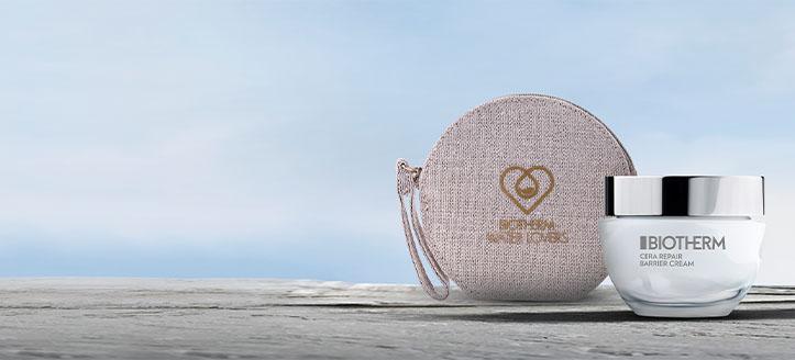 Pri nákupe produktov Biotherm v hodnote vyše 35 € získaj značkovú kozmetickú tašku ako darček