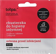 Voňavky, Parfémy, kozmetika Obrúsky na intímnu hygienu antibakteriálne 1 ks - Tolpa Intima