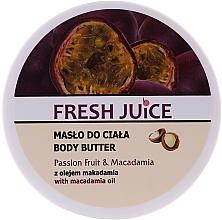 """Voňavky, Parfémy, kozmetika Krémové maslo na telo """"Marakuja a makadamia"""" - Fresh Juice Passion Fruit & Macadamia"""