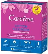 Voňavky, Parfémy, kozmetika Hygienické každodenné ohybné vložky, 56 ks - Carefree Cotton FlexiForm