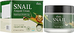 Voňavky, Parfémy, kozmetika Ampulkový krém na tvár so slimačím mucínom - Ekel Snail Ampule Cream