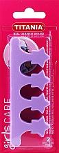 Voňavky, Parfémy, kozmetika Dištančný prvok pre pedikúru fialový - Titania