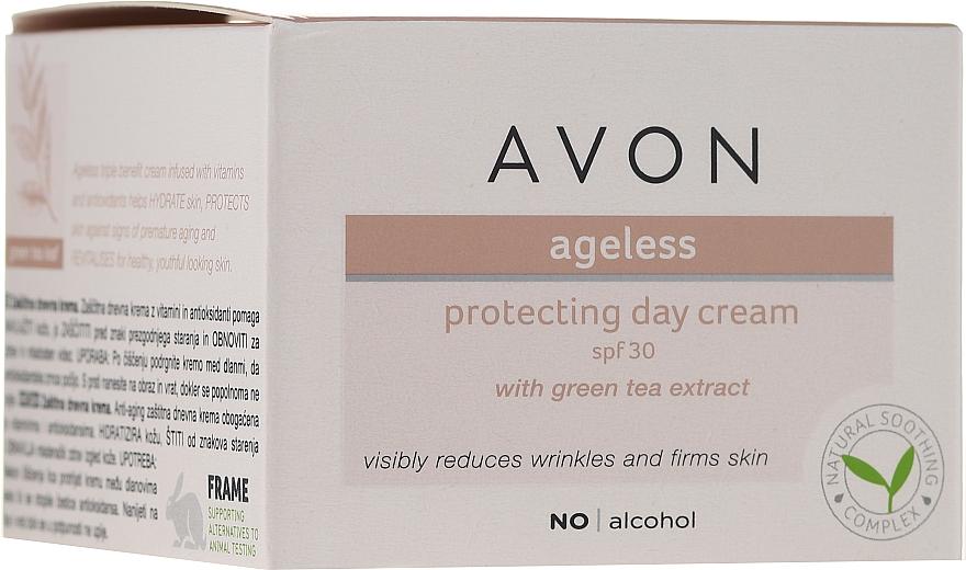 Denný ochranný krém na tvár s extraktom zo zeleného čaju - Avon Ageless Protacting Day Cream SPF 30 — Obrázky N1