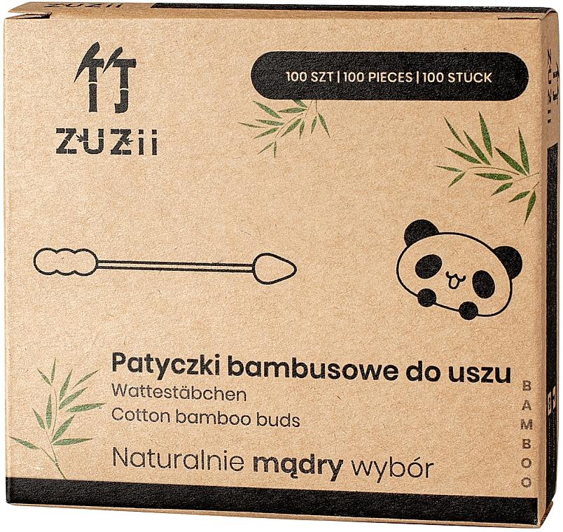 Bambusové vatové tyčinky s rôznymi koncami - Zuzii Bamboo Cotton Buds — Obrázky N1