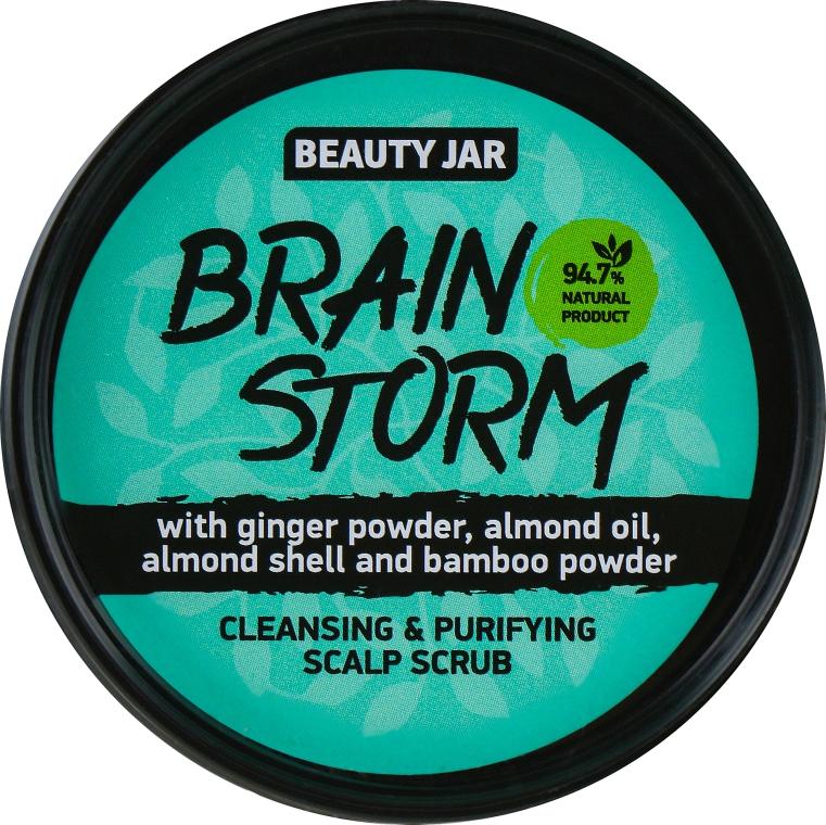 "Peeling na čistenie pokožky hlavy ""Brain Storm"" - Beauty Jar Cleansing & Purifying Scalp Scrub"