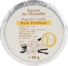 Voňavky, Parfémy, kozmetika Šumivá bomba do kúpeľa s vôňou magnólie a vanilky - Nature de Marseille Magnolias&Vanilla