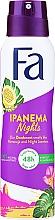 """Voňavky, Parfémy, kozmetika Dezodorant v spreji """"Rytmy Brazílii"""" - Fa Ipanema Nights Deo Spray"""
