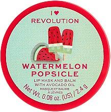 Balzam a maska na pery - I Heart Revolution Watermelon Popsicle Lip Mask & Balm — Obrázky N1