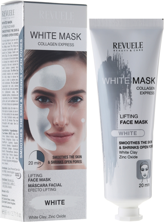 Maska na tvár - Revuele White Mask Lifting Face Mask