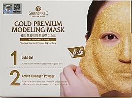 Voňavky, Parfémy, kozmetika Maska na tvár - Shangpree Gold Premium Plus Modeling Mask (gel/5x50g + powder/5x4,5g)
