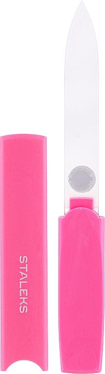Krištáľový pilník na nechty v plastovom puzdre FBC-13-128, ružový - Staleks
