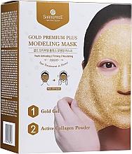 Voňavky, Parfémy, kozmetika Zlupovacia maska na tvár s miskou - Shangpree Gold Premium Modeling Mask