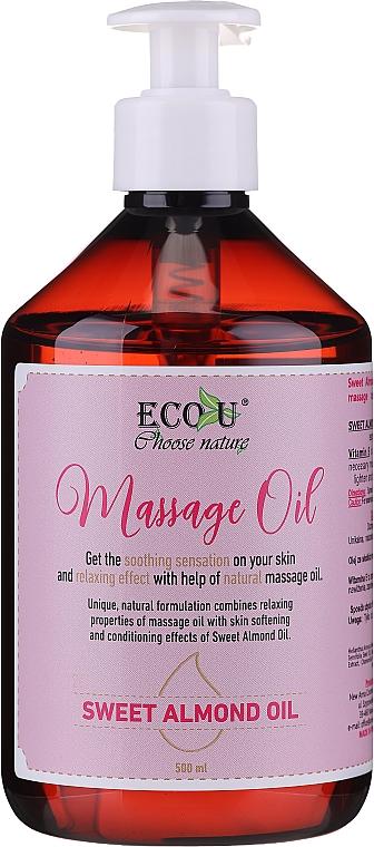 Masážny olej - Eco U Massage Oil Sweet Almond Oil