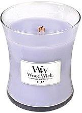 Voňavky, Parfémy, kozmetika Vonná sviečka v pohári - WoodWick Hourglass Candle Lilac