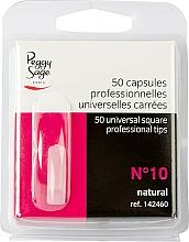 """Voňavky, Parfémy, kozmetika Univerzálne štvorcové tipy """"№10"""", 50 ks - Peggy Sage Tips"""