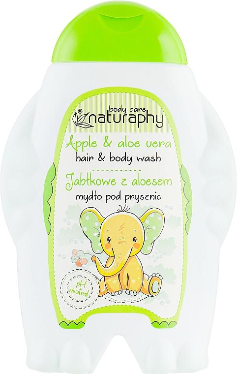 "Detský šampón-sprchový gél ""Jablko"" - Bluxcosmetics Naturaphy Hair&Body Wash"