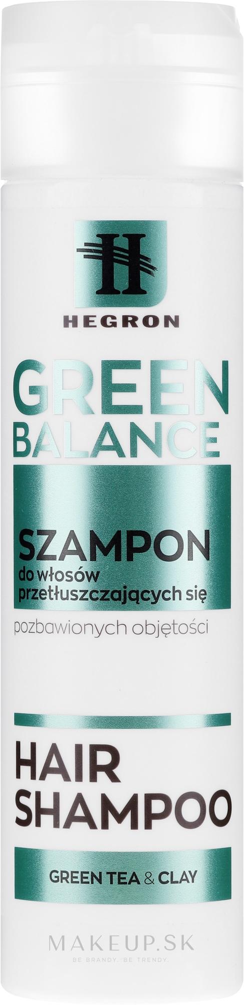 Šampón pre mastné vlasy - Hegron Green Balance Hair Shampoo — Obrázky 230 ml