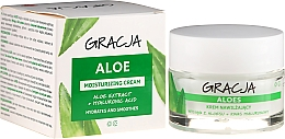 Voňavky, Parfémy, kozmetika Hydratačný krém proti vráskam s aloe vera a kyselinou hyaluronovou - Gracja Aloe Moisturizing Face Cream