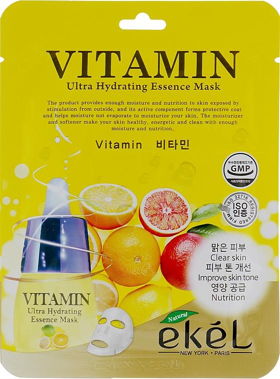 Textilná maska s komplexom vitamínov - Ekel Vitamin Ultra Hydrating Mask