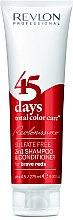 Voňavky, Parfémy, kozmetika Šampón-kondicionér jasne červený - Revlon Professional Revlonissimo 45 Days Brave Reds